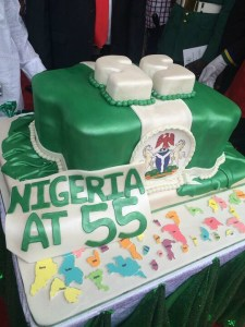 The 55th Independent cake of the Federal Republic of Nigeria