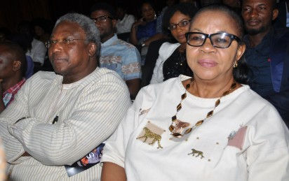 Pix From Left; CP.[Rtd] Yomi Onashile and Mrs. Bunmi Sofola, during the Book Presentation Title; ''For Sam , A collecetion of Contemporary Thoughts'' Held on Thursday 17-12-2015, At Nigerian Institute of International Affairs [NIIA], Kofo Abayomi Street Island Lagos. PHOTO; Bunmi Azeez