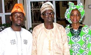 L-R) Olutayo Irantiola, Host, Yoruba Lakotun; Professor Taiwo Olunlade, Yoruba Creative Writer and Academia and Madam Iyabo Aboaba at the second edition of Yoruba Lakotun at Ethnic Heritage Centre, Ikoyi over the weekend.