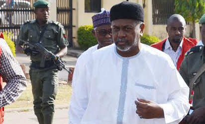 Image result for Police deny stopping planned protest by Sambo Dasuki's family members