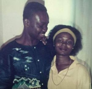 Fayose and his wife Feyisetan at the early stage of their marriage