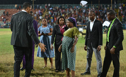 Rommy Ezeonwuka, Proprietor of Rojenny Stadium and Tourists Village, has called on government at all levels to ban religious and other non-sporting activities in all spots sports stadia in the country.