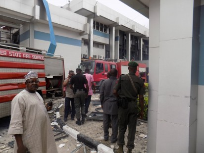 Scene from the CBN gas explosion in Calabar