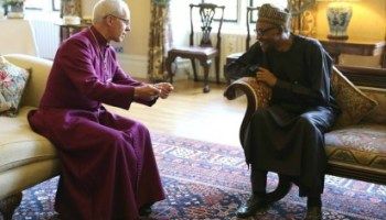 Image result for God heals, Archbishop Welby says after visiting Buhari