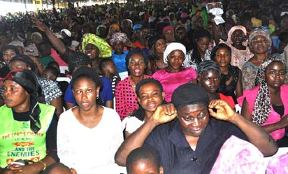 Cross Section of the worshipers at the two day Crusade