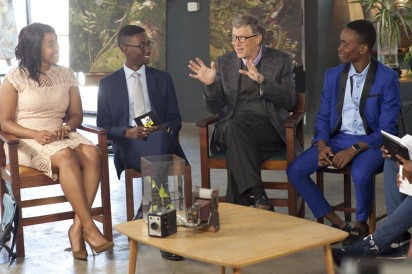 Bill Gates and panelists