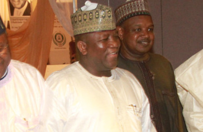 Zamfara State Governor, Abdulaziz Yari at  the periodic meeting of the Nigerian Governors' Forum at the State House Conference Centre, Abuja. Photo by Abayomi Adeashida