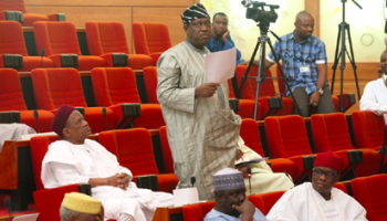 Image result for Breaking: Rowdy Session as PDP Senators prevent colleague from dumping the party