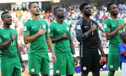 2018 FIFA WORLD CUP QUALIFIERS  BETWEEN NIGERIA AND ALGERIA HELD AT THE GODSWILLL AKPABIO STADIUM,  UYO, AKAW-IBOM STATE
