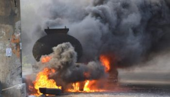 Image result for 20 vehicles burnt as tanker explodes in Festac