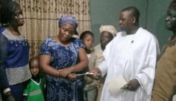 Ambode donates N5m to widow of burnt kidnap victim