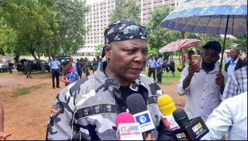 Just in: Charly Boy slumps, others wounded as police fire tear gas at anti-Buhari protesters