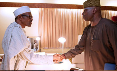 Buhari receives new SGF, Boss Mustapha at state House