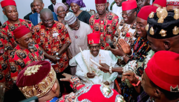Image result for Igbo group drums support for Buhari
