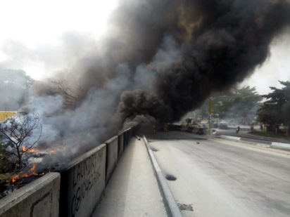 2 dead as fuel tanker explodes in Ibadan - Vanguard News