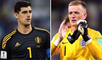 I didn't mock Pickford's height, says Courtois