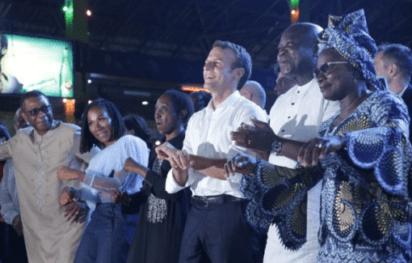 Emmanuel Macron at the Afrika Shrine 1