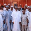 Buhari, Oshiomhole, aggrieved APC aspirants dine