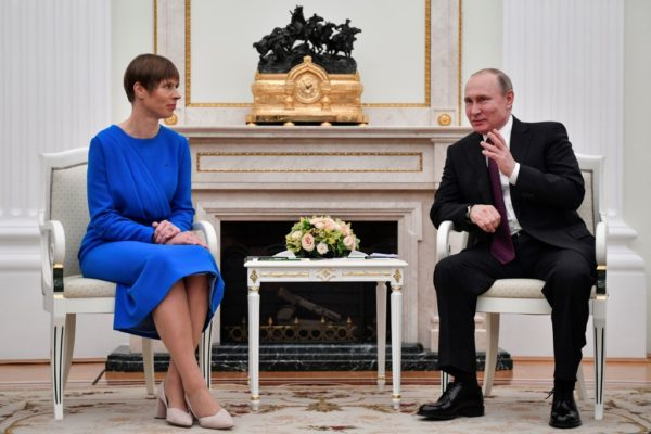 Estonia president holds first meeting with Putin in years