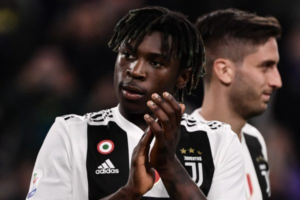 Kean scores for Juve despite racist abuse - teammate says he incited crowd