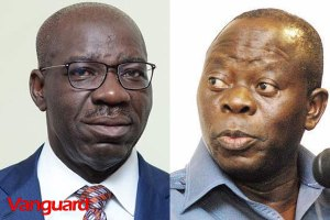 Edo APC Primaries: Stay off, Obaseki warns Oshiomhole