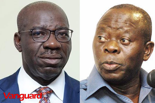 Edo 2020: PDP waiting in the wings as Oshiomhole, Obaseki engage in war of attrition