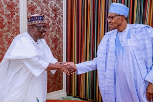 APC crisis: Buhari, Lawan meet in Aso Rock