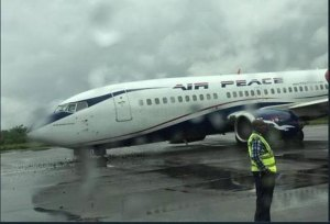 Air-Peace plane crash-lands in Lagos