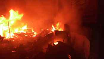 Image result for Shops, machines, planks destroyed as Fire razes Ilesa Sawmill