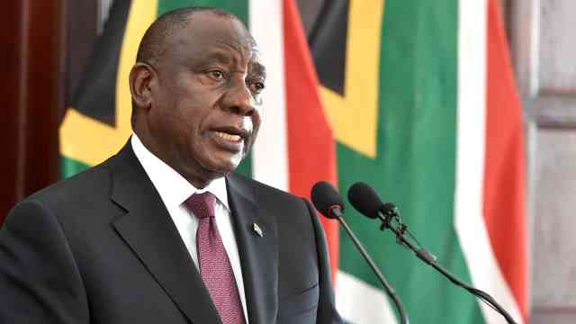 South African president stands up for WHO against Trump