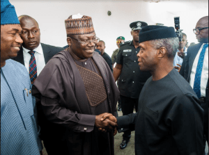 VP Osinbajo with Senate President, Ahmad Lawan