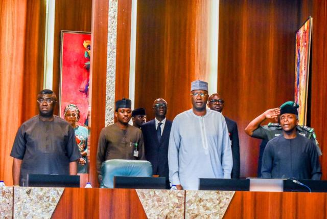 Vice President Yemi Osinbajo on Thursday presided over the monthly National Economic Council (NEC) meeting at the Presidential Villa, Abuja.  Nigeria's Constitution provides that the vice president is the Chairman of NEC.  The council meeting is held monthly to deliberate on the coordination of the economic planning efforts and economic programmes of the various levels of government.  NEC comprises the 36 state governors, the governor of Central Bank of Nigeria, minister of finance, Secretary to the Government of the Federation and other government officials as well as agencies involved in managing the economy.   Vanguard Nigeria News