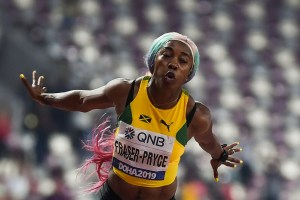 Jamaican sprint legend Shelly-Ann Fraser-Pryce won her record fourth women's 100 metres world title in Doha on Sunday in stunning style.