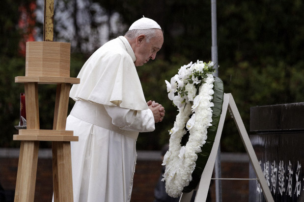Pope Francis, Nuclear weapons, Japan