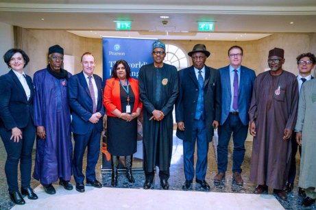 Buhari meets Pearson Educational Group mgt. in London