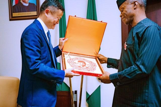 Vice-President Yemi Osinbajo SAN receives in audience Founder AliBaba.Com Mr. Jack Ma at The StateHouse, Abuja. Photos