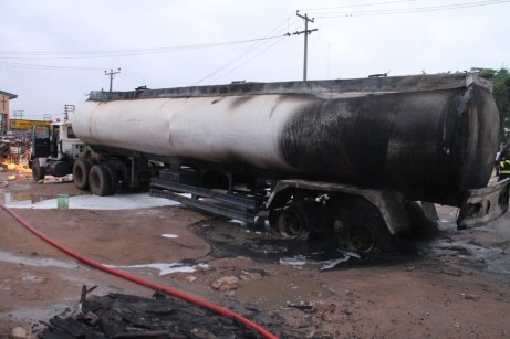 Pipeline Vandalism: Another disaster averted as petrol tanker bursts into flame in Lagos