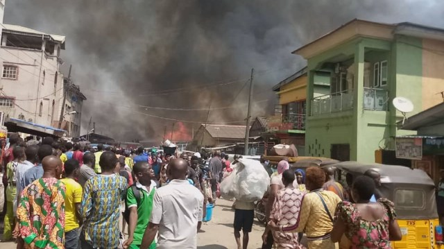 Just in: Another fire guts building in Ebute-Metta
