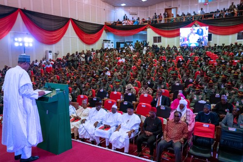 Respect human rights, international humanitarian laws in your operations, Buhari tells army