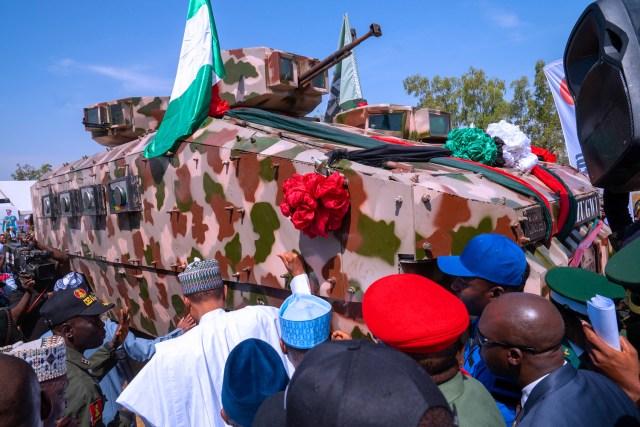 President Buhari unveils made in Nigeria Armored vehicles