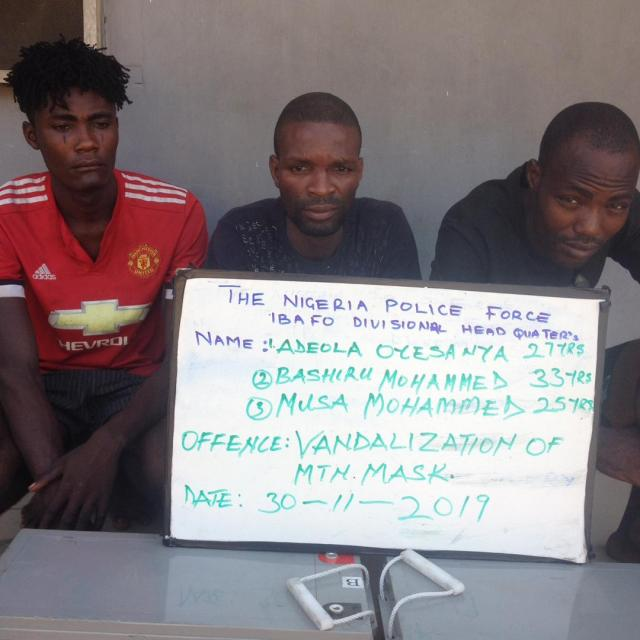 We have been in business of telecom mast vandalism ― Suspects