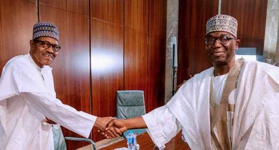 President Muhammadu Buhari and Kwara Governor, Abdulrahman Abdulrazaq