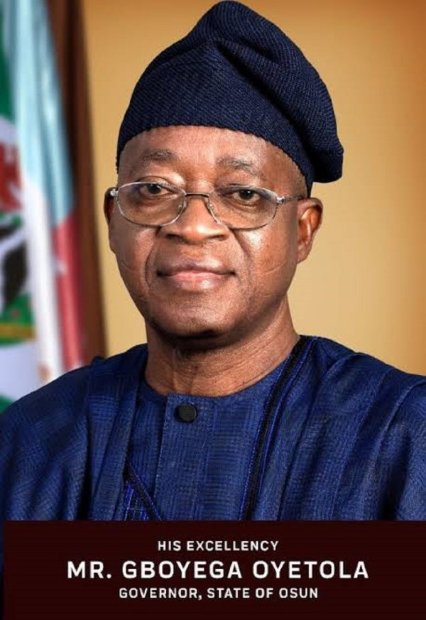 Christmas: Gov Oyetola urges Nigerians to shun religious intolerance, embrace love