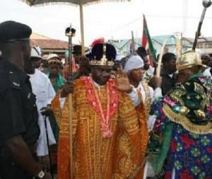 Buhari greets Amanyanabo of Kalabari at 90