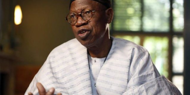 FG is addressing job creation for youths — Lai Mohammed