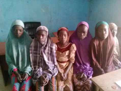The abductees rescued by police