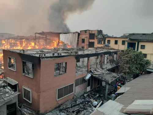 Raging fire destroys multi-million naira properties across Lagos in 24hrs