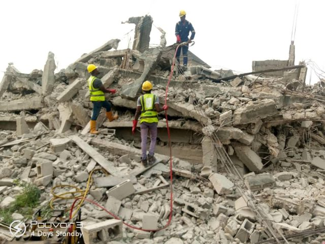 One escapes death as uncompleted three storey building collapses in Lagos