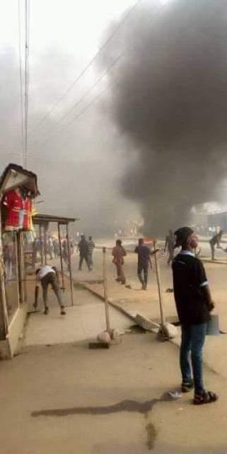 Okada Ban: Aggrieved riders riot in Iyana Ipaja, Lagos
