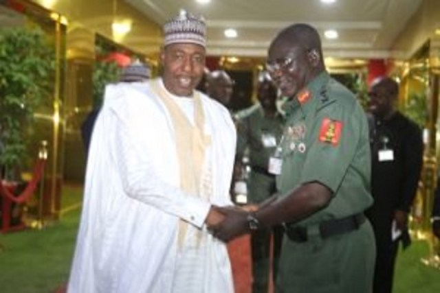 Insurgency battle needs to be taken to terrorists' enclaves – Zulum urges Buratai